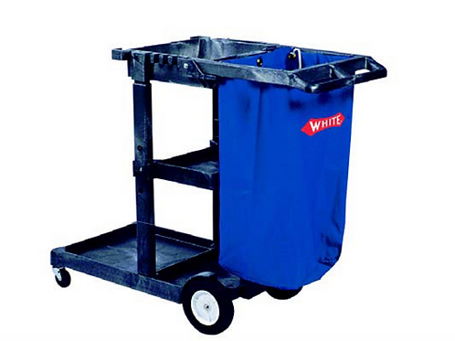 Janitor Housekeeping Cart- Gray with Bag