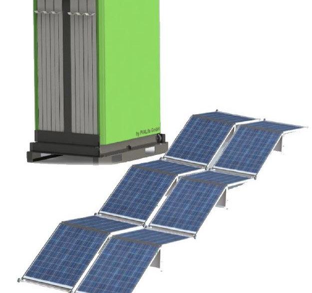 Mobile PV-Anlage für MobilHybrid