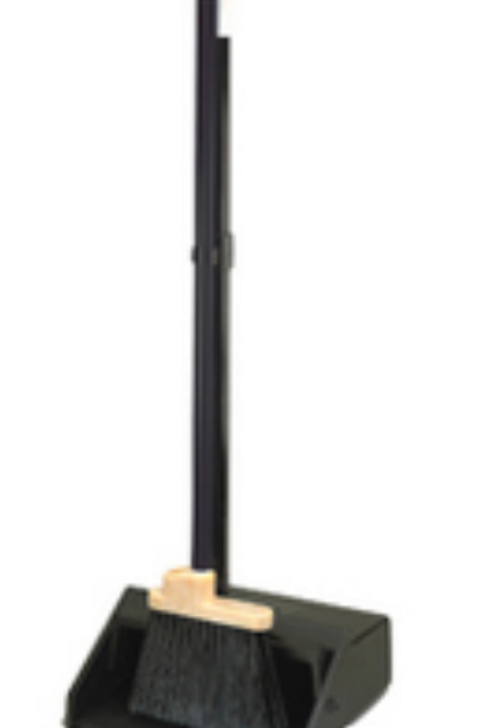 Duo-Pan Black Dust Pan and Lobby Broom
