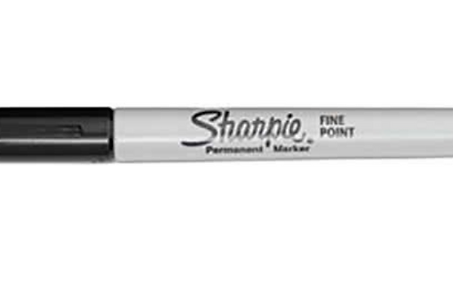 Sharpie Fine Tip Permanent Marker Black