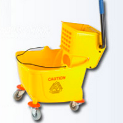 Mop Bucket & Wringer Combo Side Press