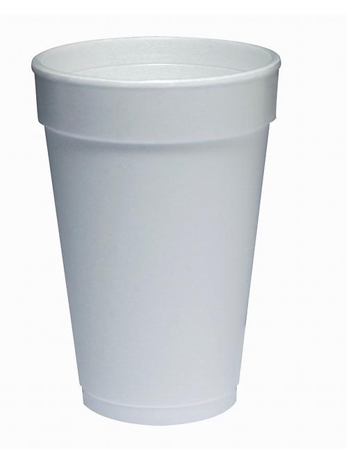 16 OZ Foam Cup - White