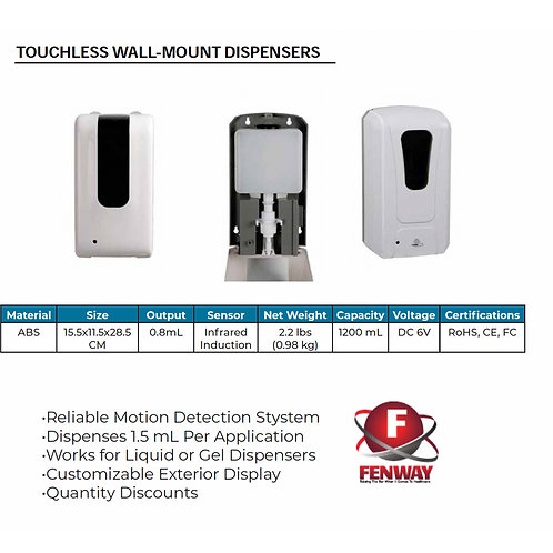 Motion Activated Wall Mount Dispenser