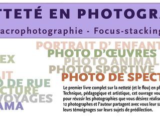 """SOUSCRIPTION AU LIVRE """"La netteté en photographie"""""""