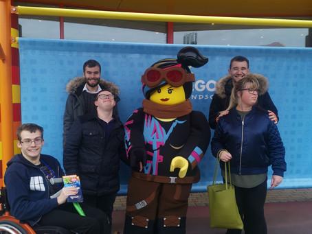 Rainbow clients brave the rain at Legoland!!