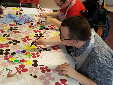 Chinese New Year Arts session at Rainbow Daycentre