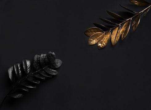 black-plants-golden-plants-floral-natura