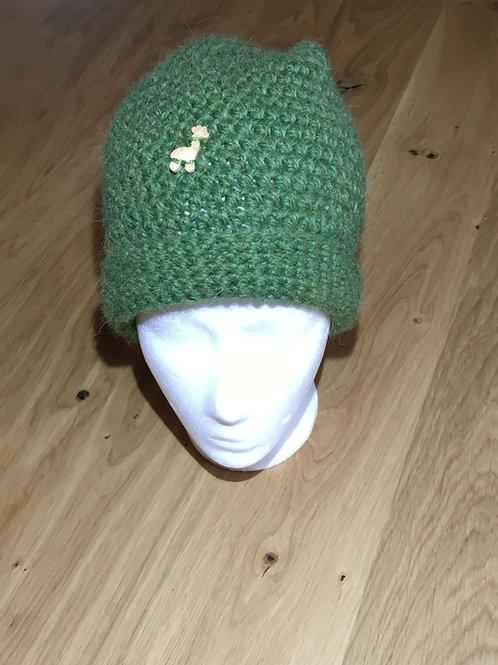 Alpaka Haube Grün