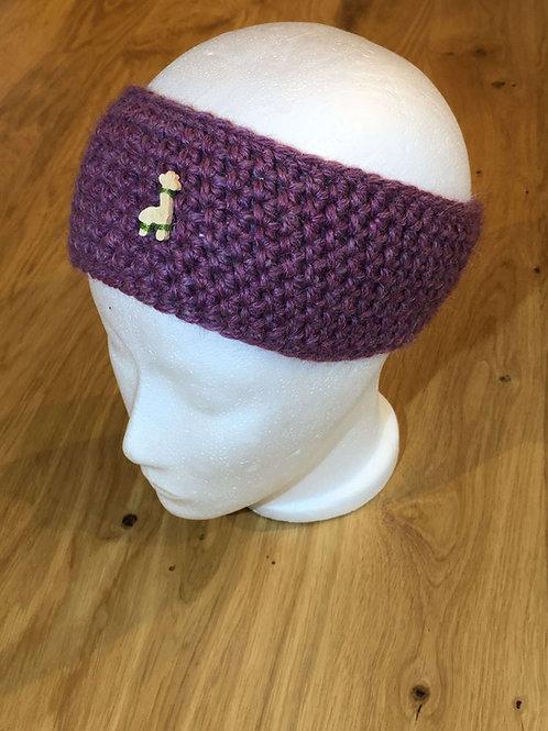 Alpaka Stirnband Violett
