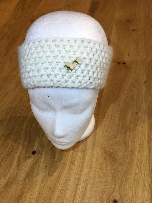 Alpaka Stirnband Weiß