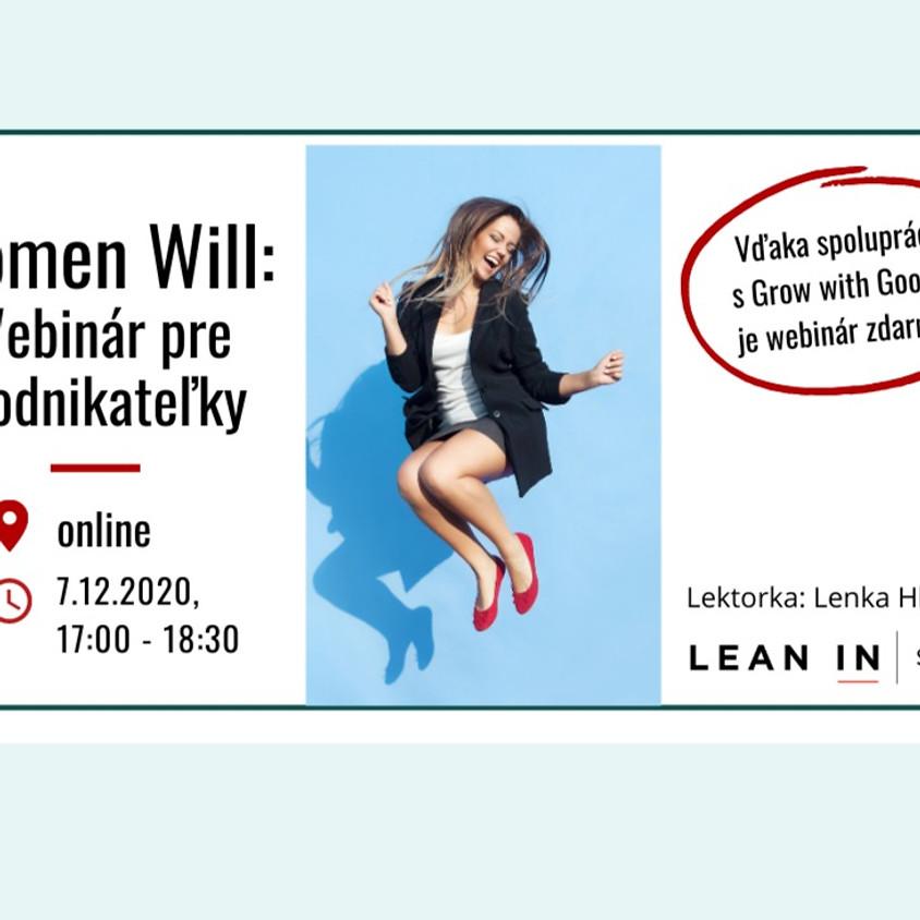 Women Will - Webinár pre Podnikateľky