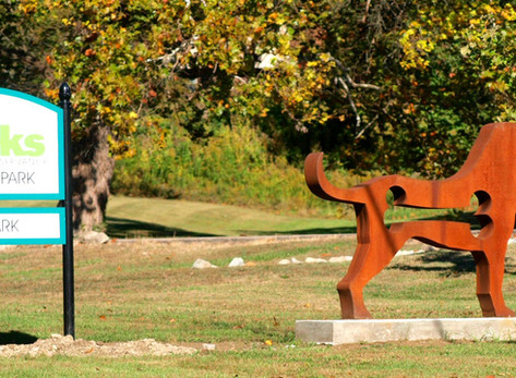 SCULPTURE IN THE PARKS SPOTLIGHT: Dogs and more by Dale Rogers