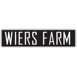 Wiers Farm Logo White Letter Black Backg