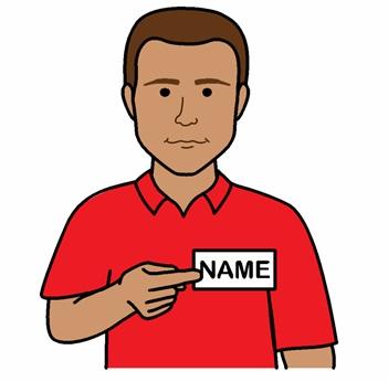 Name badge male