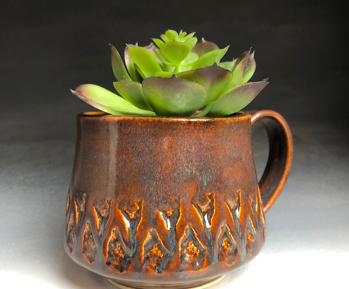 Rock Stamped Planter Mug
