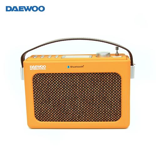 【韓國】DAEWOO復古設計藍牙多功能收音機音響/SD卡 USB接口 藍牙AUX接口/DRP-131
