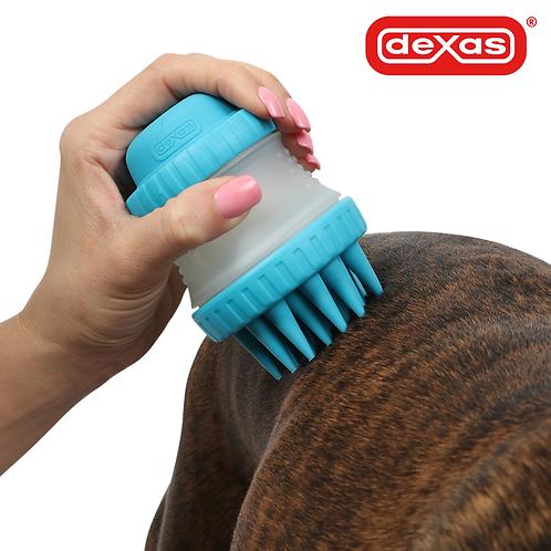美國DEXAS-寵物矽膠按摩洗澡刷/SCRUBBUSTER
