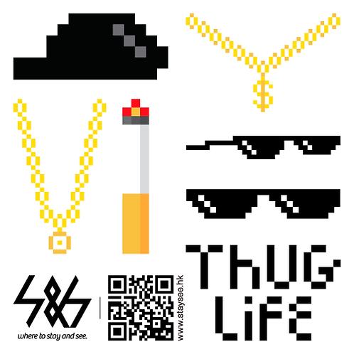 THUG LIFE VIDEO短片所需材料包/素材圖片+音樂