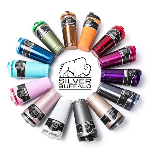 Silver Buffalo - 雙層不鏽鋼保溫杯/473ml/含飲管