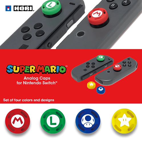 【日本】HORI Switch Analog Caps/Joy-Con矽膠帽 x 4/SUPER MARIO