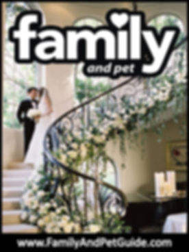 Family and Pet Guide  wedding magazine cover
