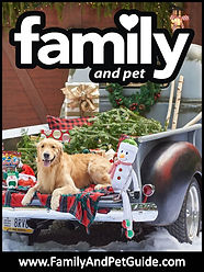 Family and Pet Guide, magazine cover of pickup dog