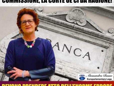 """BASSO (LEGA): """"FALLIMENTO BANCHE COLPA DELLA COMMISSIONE, CORTE UE CI DÀ RAGIONE"""""""