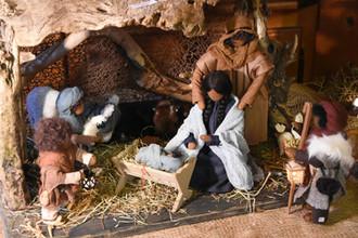 Krippe mit Maria und Josef