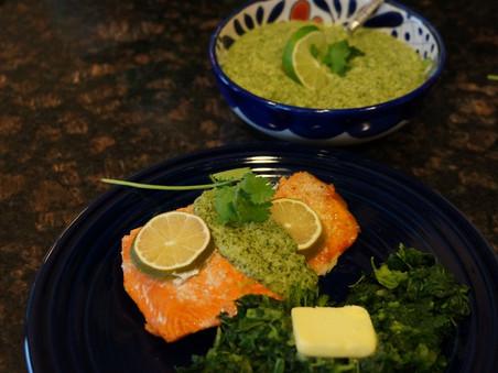 chimichurri salmon recipe - a paleo hit in the summer