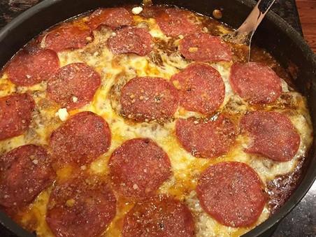 deconstructing a low carb pizza