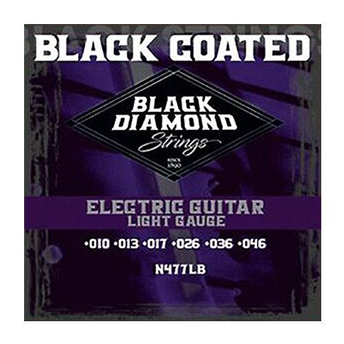 Black Diamond Strings Electric Black Coated NickelLight 10-46 (N477LB)
