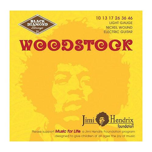 Black Diamond Strings Woodstock Electric 10-46 Jimi Hendrix (BDJH1046N)