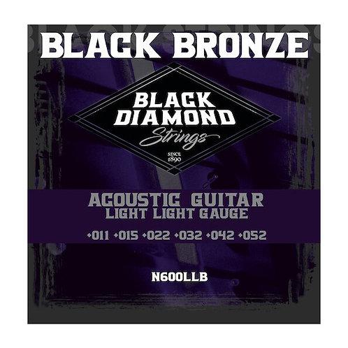 Black Diamond Strings Black Coated Phosphor Bronze Acoustic 11-52 (N660LLB)
