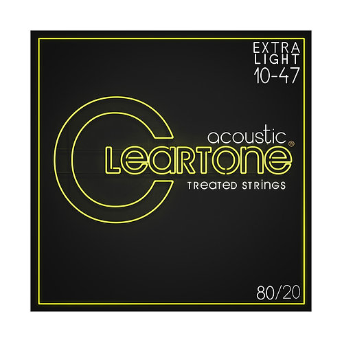Cleartone Acoustic Strings 80/20Extra Light 10-47