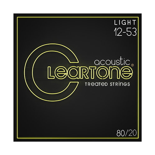 Cleartone Acoustic Strings 80/20 Light 12-53