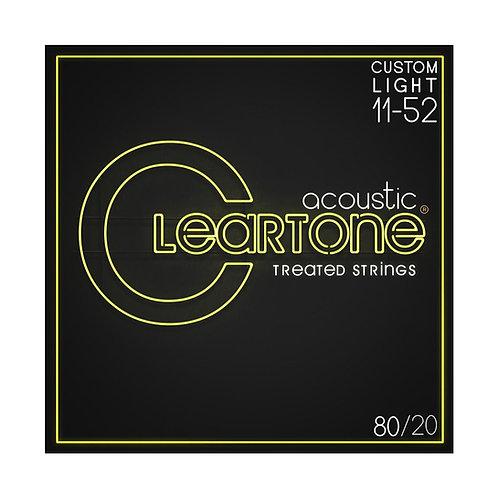 Cleartone Acoustic Strings 80/20Custom Light 11-52