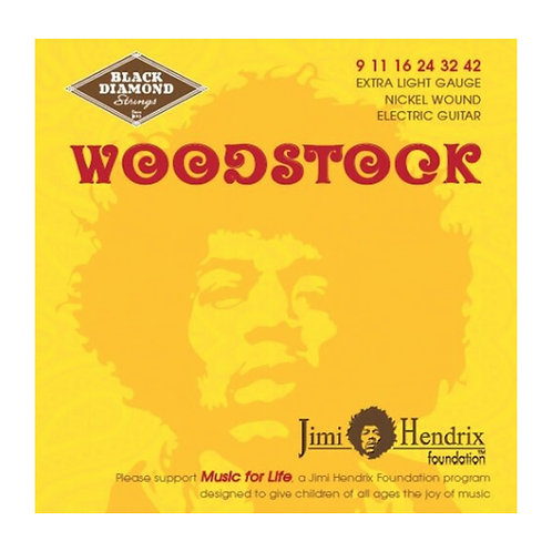 Black Diamond Strings Woodstock Electric Medium 09-42 Jimi Hendrix (BDJH0942N)