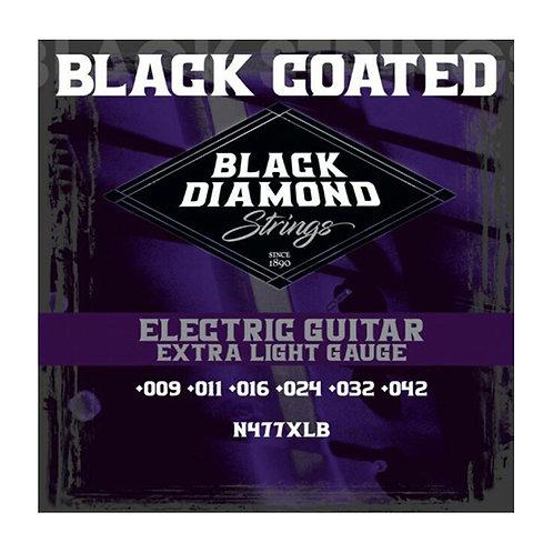 Black Diamond Strings Electric Guitar Black Coated Extra Light 09-42 (N477XLB)
