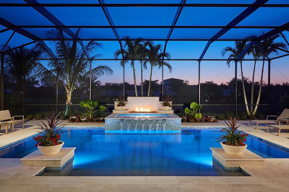 16763 Cabreo Dr Naples FL - Pool(dusk).j