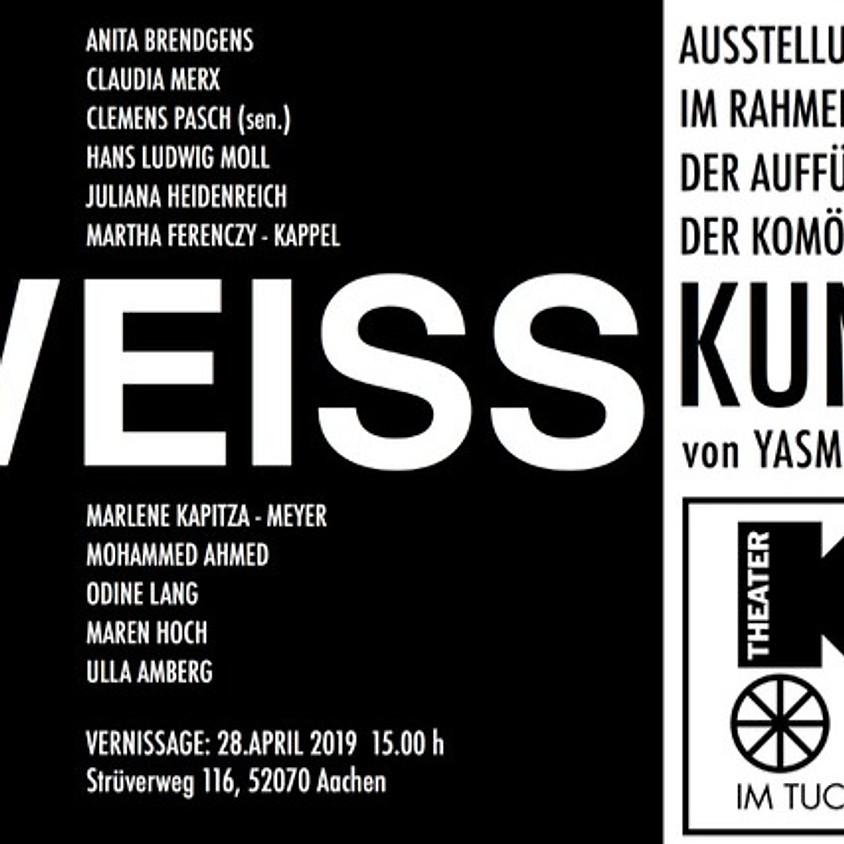 Kunstausstellung WEISS und Komödie KUNST