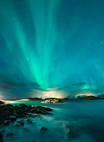 Dancing auroras over Henningsvær, Lofoten. Check out the Thomas Eckhoff photo-workshops in Lofoten islands