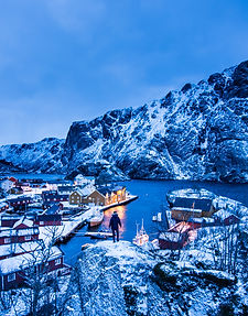 Nusfjord in the Lofoten islands offers great sceneries for the landscape photographer in the Thomas Eckhoff Classic Norway photo-workshop