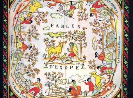 Carrés d'art  Carrés Hermès  -  Fables de la Fontaine ou Fables d'Esope