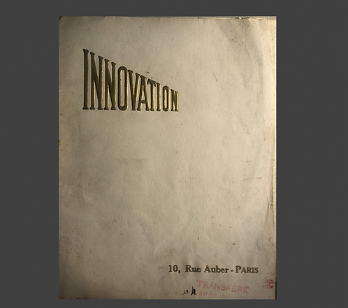 INNOVATION - Malletier  1920