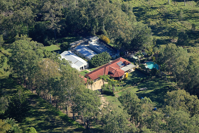 Aerial View of Redgum Kennels & Cattery