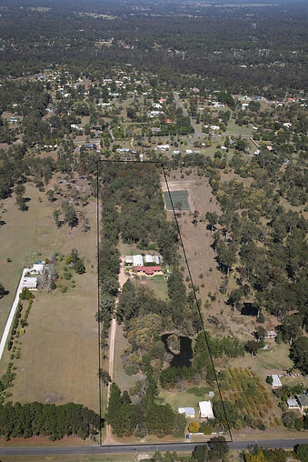 Aerial Photo Redgum Kennels & Cattery