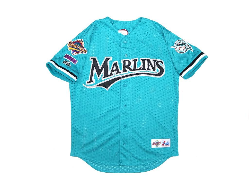 fce727e20ae Vintage Majestic MLB 1997 Florida Marlins World Series Jersey Men Size  Medium