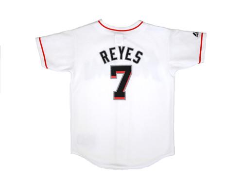 e7d95428c2a Majestic MLB Baseball Miami Marlins White Jose Reyes Youth Size Medium