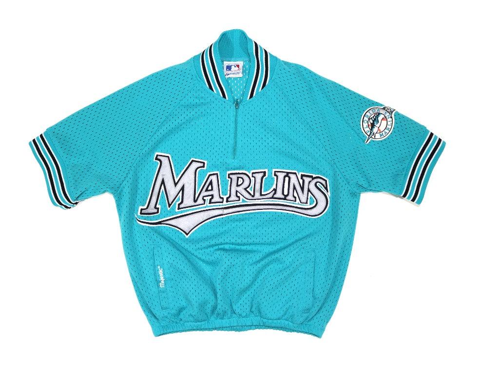 d7352217a Vintage Majestic MLB Florida Marlins Batting Jersey Youth Size Medium