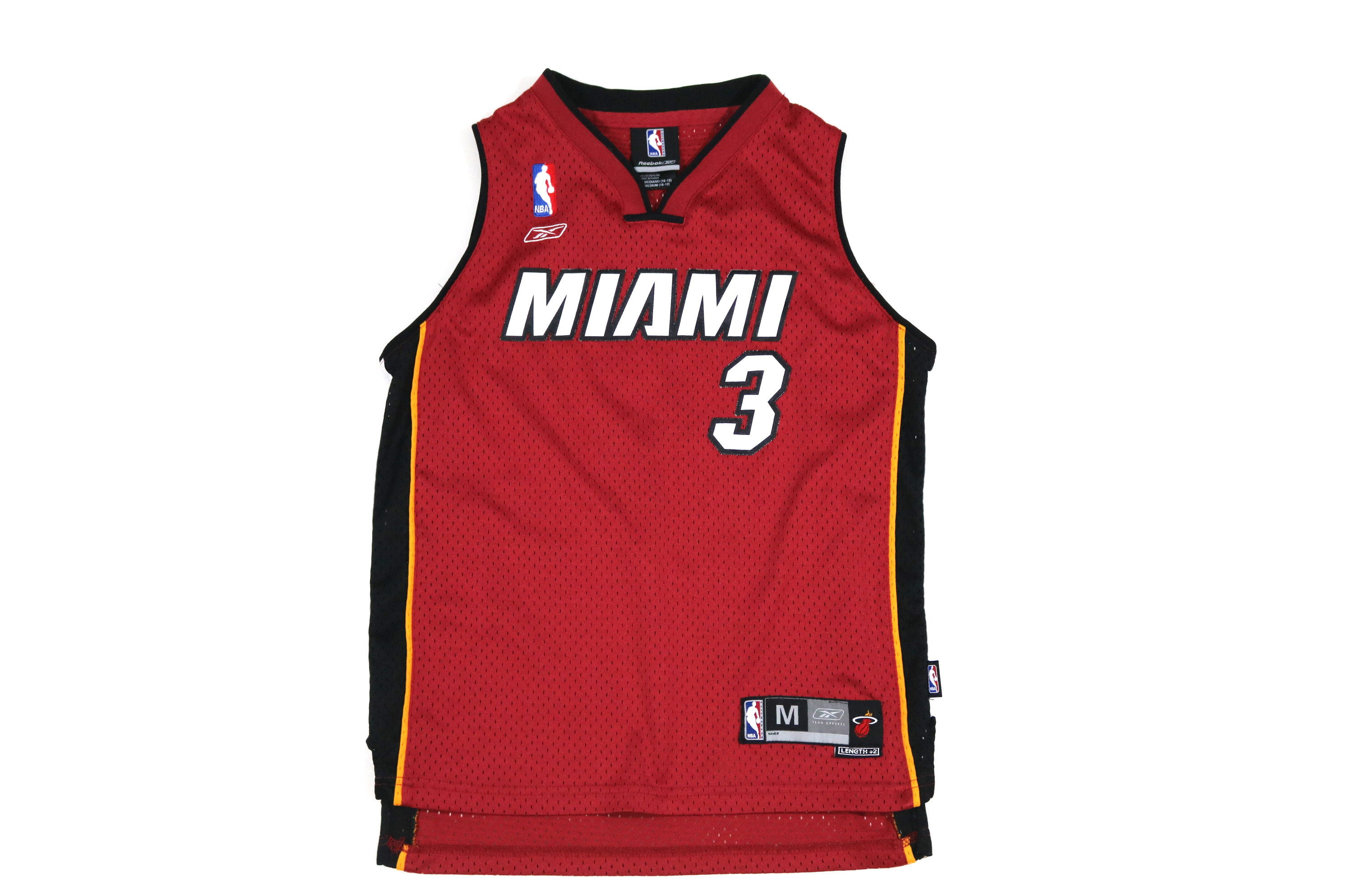 aa9c081c5 Vintage NBA Miami Heat Reebok Dwyane Wade Jersey  3 Youth Medium